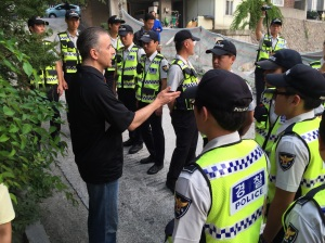 2015-08-23_150-0087 Pastor Foley Talking With Riot Police